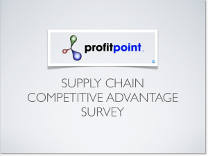 Survey of Supply Chain Optimization Tools and Methodolgies.